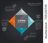 modern business infographic.... | Shutterstock .eps vector #735150745