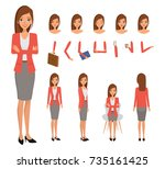 woman character constructor for ... | Shutterstock .eps vector #735161425