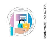 secure account login gradient... | Shutterstock .eps vector #735163114