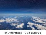 high altitude view between sky... | Shutterstock . vector #735168991