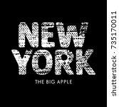 new york grunge textured... | Shutterstock .eps vector #735170011