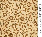retro brown watercolor texture... | Shutterstock .eps vector #735173314