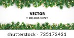 winter holiday background.... | Shutterstock .eps vector #735173431