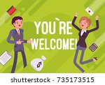 you are welcome. business... | Shutterstock .eps vector #735173515