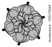 mandalas for coloring book.... | Shutterstock .eps vector #735175069