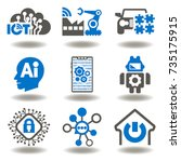 internet of things  iot  ... | Shutterstock .eps vector #735175915