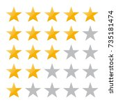5 star rating. vector... | Shutterstock .eps vector #735181474