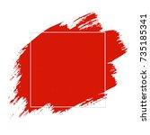 red blob gradient mesh vector... | Shutterstock .eps vector #735185341