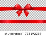 Red Bow Isolated Background...