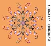 snowflake vector icon... | Shutterstock .eps vector #735198541