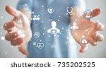businessman on blurred...   Shutterstock . vector #735202525