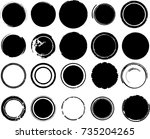 grunge post stamps collection ... | Shutterstock .eps vector #735204265