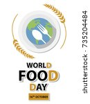 world food day background | Shutterstock .eps vector #735204484