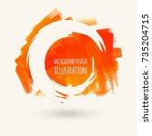 vector splats splashes and... | Shutterstock .eps vector #735204715