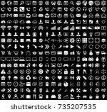 white internet web icons... | Shutterstock .eps vector #735207535