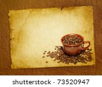 coffee grunge background with...