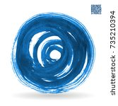 blue brush stroke and texture.... | Shutterstock .eps vector #735210394