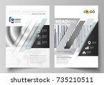business templates for brochure ... | Shutterstock .eps vector #735210511