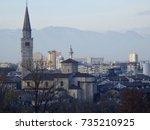 cityscape of pordenone  italian ... | Shutterstock . vector #735210925