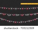 christmas lights isolated... | Shutterstock .eps vector #735212509