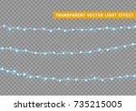 christmas lights isolated... | Shutterstock .eps vector #735215005