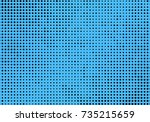 abstract monochrome  halftone... | Shutterstock .eps vector #735215659
