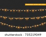 christmas lights isolated... | Shutterstock .eps vector #735219049