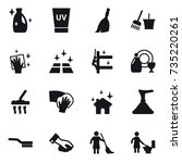 16 vector icon set   cleanser ... | Shutterstock .eps vector #735220261