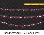 christmas lights isolated... | Shutterstock .eps vector #735221491