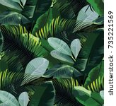 tropical vector pattern with...   Shutterstock .eps vector #735221569