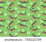 seamless vector pattern with... | Shutterstock .eps vector #735222739