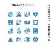 finance icons. vector line... | Shutterstock .eps vector #735226579
