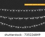 christmas lights isolated... | Shutterstock .eps vector #735226849