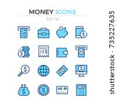 money icons. vector line icons... | Shutterstock .eps vector #735227635