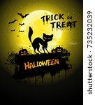 halloween poster  night... | Shutterstock .eps vector #735232039