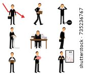 failed businessman character...   Shutterstock .eps vector #735236767