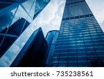 directly below of modern... | Shutterstock . vector #735238561