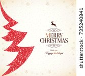 christmas and new year. vector... | Shutterstock .eps vector #735240841