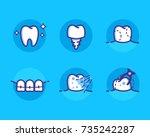 health dent logo design vector... | Shutterstock .eps vector #735242287