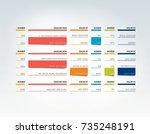 table  schedule  tab  planner ... | Shutterstock .eps vector #735248191
