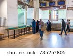 people visit mevlana museum in... | Shutterstock . vector #735252805
