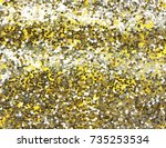 festive yellow  gold background ... | Shutterstock . vector #735253534