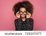 beauty portrait of a young... | Shutterstock . vector #735257377