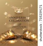 anniversary celebration... | Shutterstock .eps vector #735259171