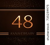 realistic forty eight years... | Shutterstock .eps vector #735259975