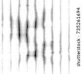 abstract grunge grid polka dot... | Shutterstock . vector #735261694