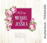 marriage invitation card with... | Shutterstock .eps vector #735264181