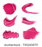 smear paint of cosmetic... | Shutterstock . vector #735265075