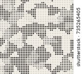 modern stylish halftone texture.... | Shutterstock .eps vector #735265405