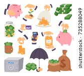 money save vector symbols... | Shutterstock .eps vector #735288049
